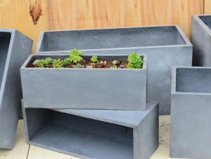 China Fiber Clay Pots, outdoor pots, garden pots FR05 on sale