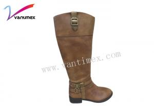China Comfortable female Luxury Leather Shoes for women , flat ankle boots on sale