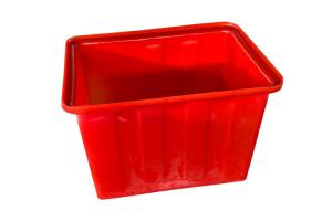 China Red Heavy Duty 160L Plastic Recycling Bins Water Tank For Aquaponic Fish Fram on sale