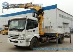8000KG Foton Knuckle Boom Crane Mounted Truck 4 X 2 YC4E140-33 Engine
