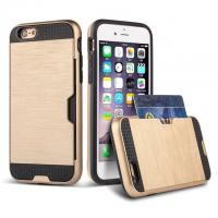 Customized Drop proof iPhone Protective Case with metal Armour card slot function