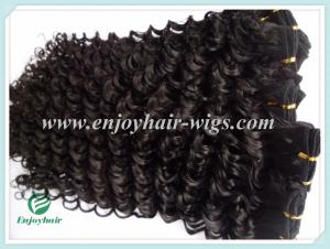 China Malaysian 5A virgin remy hair weave ,natural color(can be dye) deep wave 10''-26'' on sale