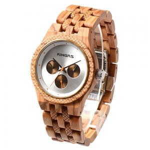 China Fashion watches men luxury wrist natural wooden watches OEM watch ,Waterproof  Multifunction Quartz Movement Men Watch on sale