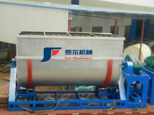 China Stable Working Industrial Ribbon Mixer Turntable U Type Real Stone Paint Powder Mixer on sale