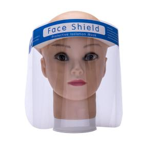 China Large Instock Fast delivery CE FDA Disposable Plastic PET Protective Face Shield visors, Clear Full Medical Face Shield on sale