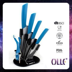 China 4 Pcs Ceramic Knife Set with Peeler and Acrylic Block on sale
