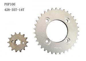 China POP100Motorcycle Sprocket Chain 35T-14T /High Quality Heat Treatment on sale