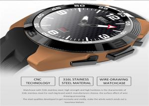 China Round Screen Touch Mobile Watch Stainless Steel Watch Casing CE Certification on sale