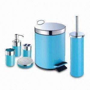 China El sistema del cuarto de baño, incluye el tenedor de cepillo del retrete, el dispensador del jabón líquido, el tenedor del cepillo de dientes y la jabonera on sale