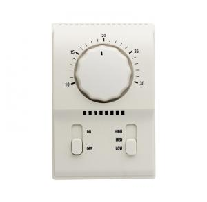 China Mechanical Fan Coil  Thermostat on off Switch Temperature Controller Air Conditioning Fresh PC ABS on sale