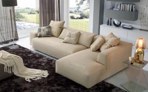 Quality Beige Color Modern Fabric Sofas , Italian B / B Fabric Sofa Designs for sale