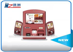 China Free Standing Self Ordering Kiosk With Banknote Acceptor / Credit Card Reader on sale