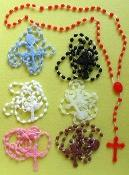 China plastic rosary,religious rosary,beautiful rosary on sale