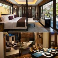 Chinese style solid wood bedroom hotel furniture design
