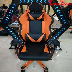 China Portable Racing Gaming Chair High Density Foam Height Adjustable For Lumbar Protection on sale