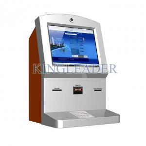 China Currency Exchange Wall Mount Touchscreen Kiosk With Cash Acceptor on sale