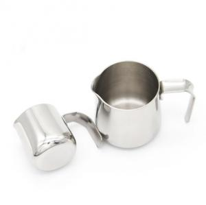 China 4OZ Mini Stainless Steel Milk Frother Pitcher 10.85*7.7*9.4 Cm Convenience To Use on sale