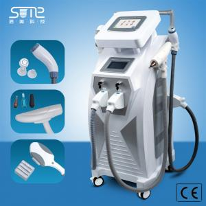 China CE approval 3 in1 elight ipl SHR RF nd yag laser Double screen same time work for hair removal ipl beauty machine on sale