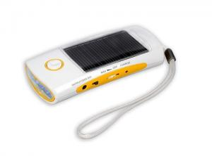 China Portable Solar led Torch Light Radio with mobile Charger on sale