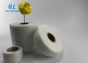 China 45mm * 90m White Color Self Adhesive Drywall Tape , Adhesive Fiberglass Mesh Tape on sale
