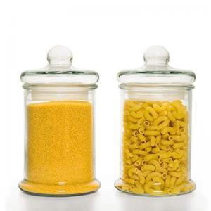 China Airtight Lid Food 2500ml Glass Storage Canister on sale