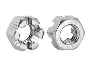 China 18-8 Stainless Steel Slotted Hex Nuts  Castle Locknuts Use With Cotter Pins on sale