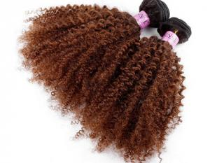 China Full Cuticles Brazilian 100% Virgin Remy Curly Human Hair Extensions No Lice on sale