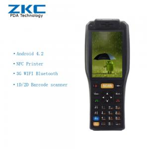China Handheld Tickets Checking PDA Barcode reader with receipt printer , rfid smart card reader on sale