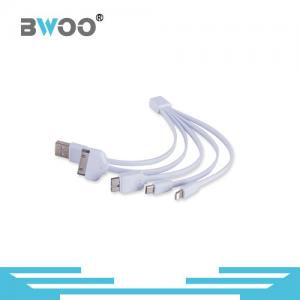 China 4 in 1 Multiple USB Charging Cable With Type C Lighting Micro USB Ports on sale