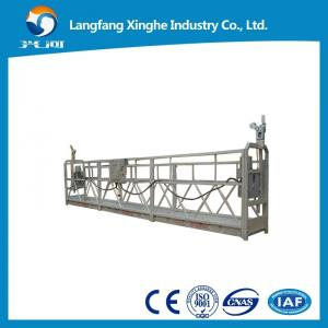 China Aluminum and steel 7.5m ZLP800 suspended rope platform / LTD hoist motor / swing stage wholesale