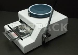 China MANUAL DOG TAG STEEL METAL CARD EMBOSSER EMBOSSING MACHINE on sale