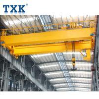 Double Beam Overhead Bridge Crane With Yellow Electric Wire Rope Hoist