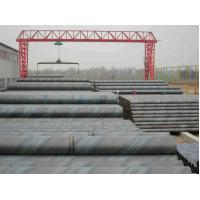 China Structure DSAW Spiral Welded Steel Pipe / Round SSAW Water Tubings X42 X52 X80 on sale