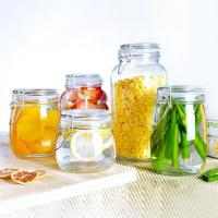 Stainless Steel Buckle Sealing Glass Storage Jar Round Square Food Tea Honey Bottle
