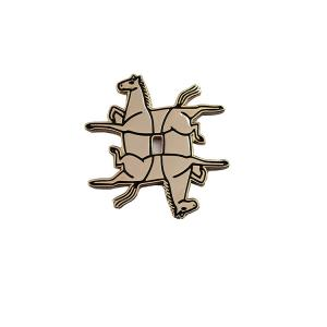 China Customized Soft Decorative Lapel Enamel Pins Dye Black Metal For Gifts on sale