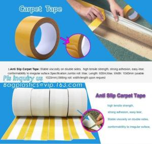 China Removed easily acrylic double sided cloth carpet tape,Strongest double sided carpet tape heavy duty rug gripper tapes fo on sale
