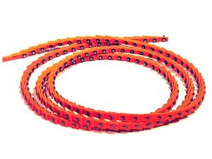 China Red Color AA BB Size Link V Belt Long Using Life With High Performance on sale