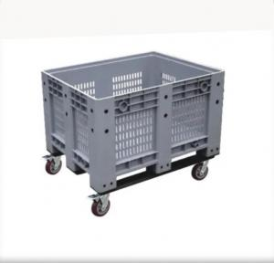 China Solid Box Plastic IBC Container HDPE Plastic Pallet Container With Lid on sale