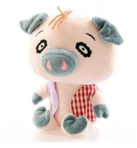 China animal plush toy with detachable silicone pacifiers on sale
