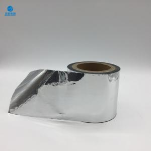 China Eco-Friendly Non-Erasable Heat Seal Soft Metallized BOPP Film With Silver Color on sale