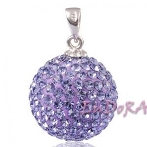 China Crystal Sterling Silver Pendant Fit European Bracelets on sale