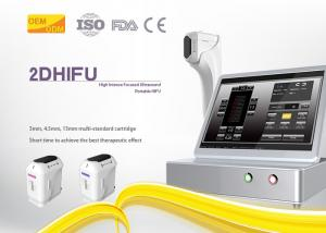 Quality Beauty Salon Hifu Body Slimming Machine Elastin Fiber Contraction 4MHz Frequency for sale