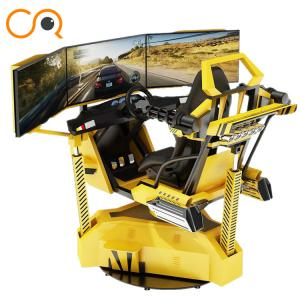 China Realistic Crazy Car VR Racing Simulator With Electric Cylinder System on sale