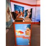Aluminum SEG Counter pop up banner stands , pop up exhibition stands