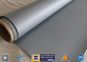 China Gray Color 510g High Strength Silicone Coated Fiberglass Fabric For Welding Curtain on sale