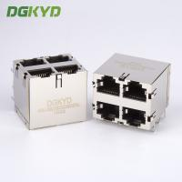 Shield Dual Deck 2x2 Rj45 Ethernet Connector Quad Ports Network Switch Jack