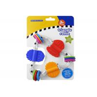 Food Grade Plastic Rattle Toys For Infants , Baby Teethers And Soothers