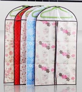 China Printing non-woven garment bag, suit cover, dress cover with view window on sale