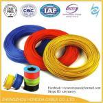 300/500V el pvc del AWG 1.5mm2 2.5mm2 4mm2 6mm2 10mm2 16mm2 cubrió el cable eléctrico del alambre de cobre