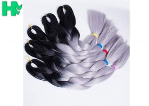 China Two Tone Jumbo Fake Hair Pieces High Temperature Fiber Synthetic Braiding on sale